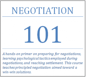 Negotiation 101